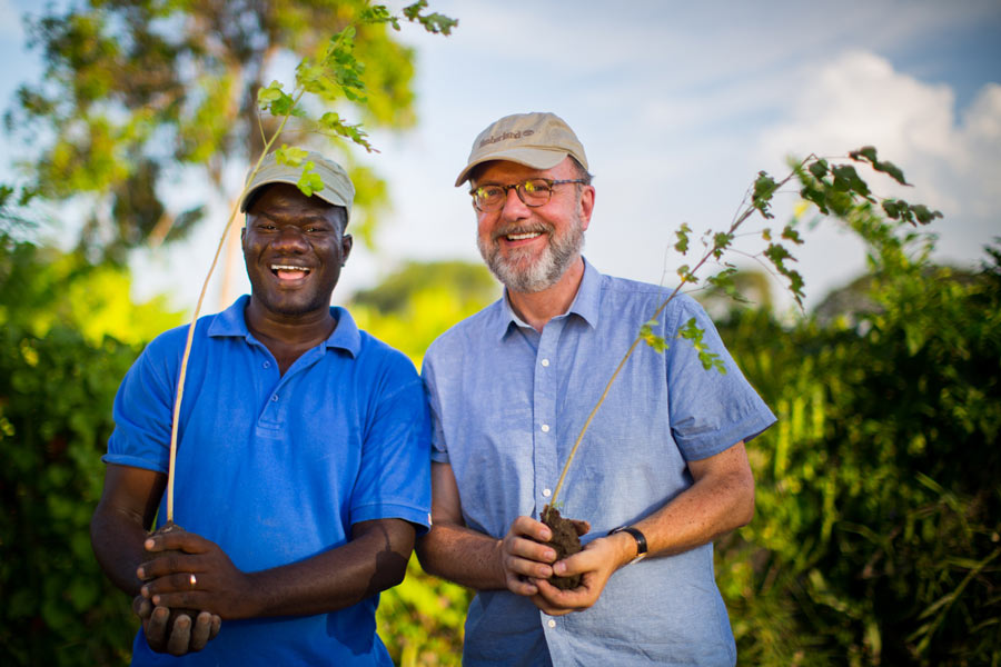 Hugh Locke (R) founder of Smallholder Farmers Alliance and co-founder Timote Georges (L)