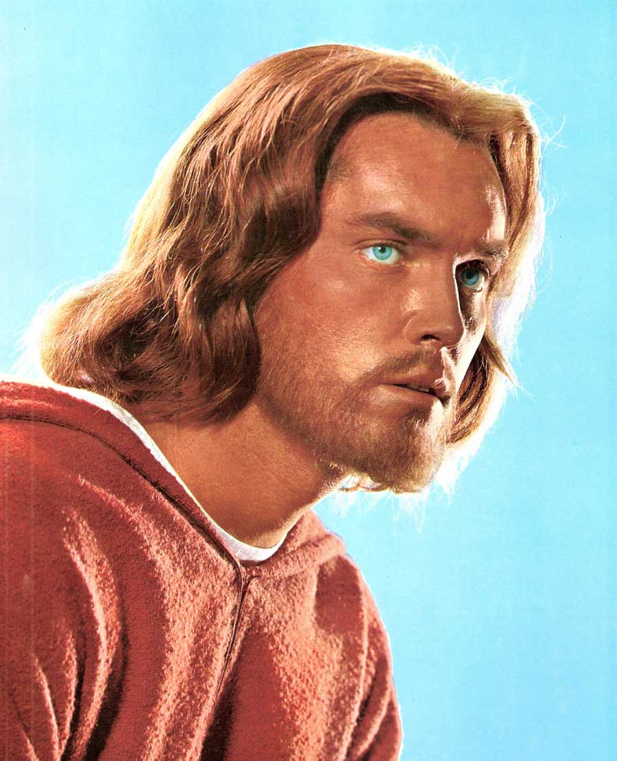 Jeffrey Hunter as Jesus in the King of Kings