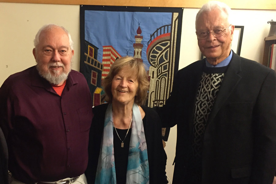 From L-R: John Eilts, Nancy Jordan, Don Streets. Photo credit: Deanne LaRue