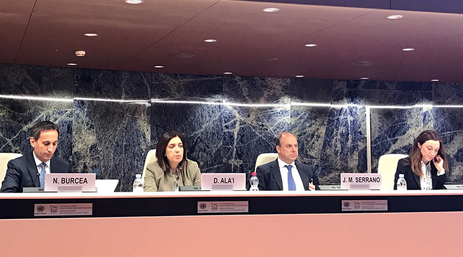 "Diane Ala'i, representative of the Baha'i International Community to the United Nations in Geneva, discussed the importance of cultivating unity between diverse populations. ""Living side by side is not enough,"" she explained. ""People of different faiths must learn to live together."""