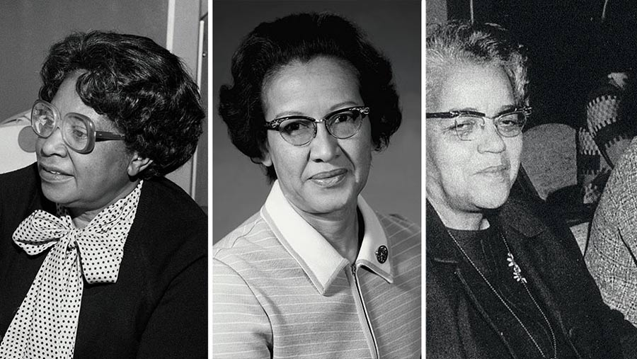 (From left to right) Katherine Johnson, Dorothy Vaughan and Mary Jackson
