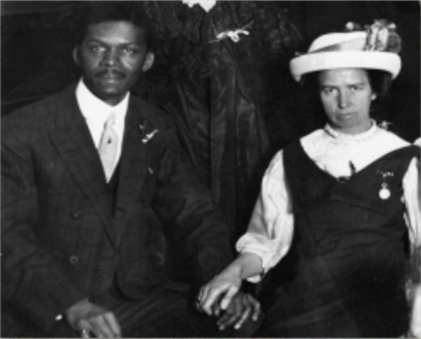 Louis and Louisa Gregory married in 1912.
