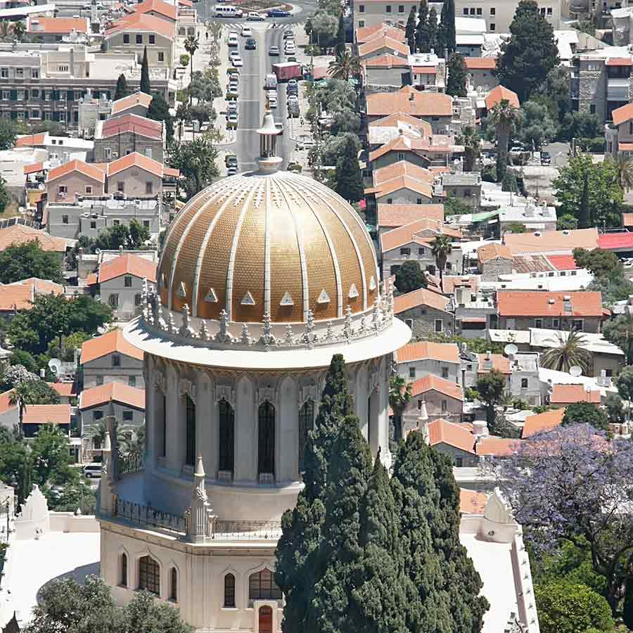 Shrine of the Bab on Mt. Carmel Haifa, Israel.