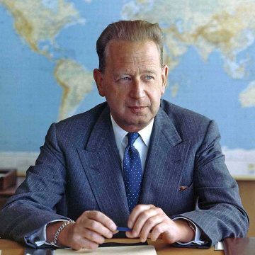 Dag Hammarskjold former secretary general of the United Nations.