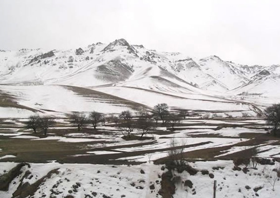The mountains in western Iran which Baha'u'llah and His family had to traverse on their journey to Baghdad.