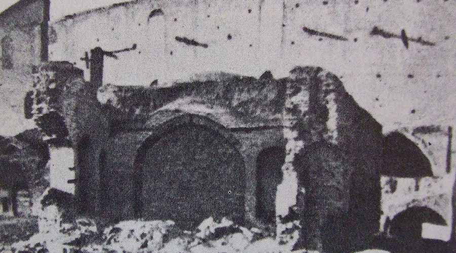 The entrance to the Siyah-Chal (Black-Pit) where Baha'u'llah was imprisoned in Iran.