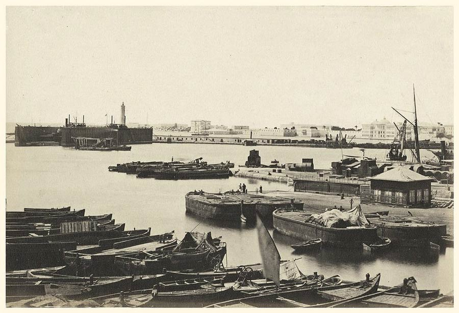 Port of Alexandria in the late 19th Century.