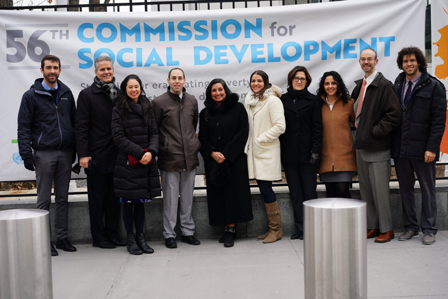 The Baha'i International Community delegation to the 56th Commission for Social Development