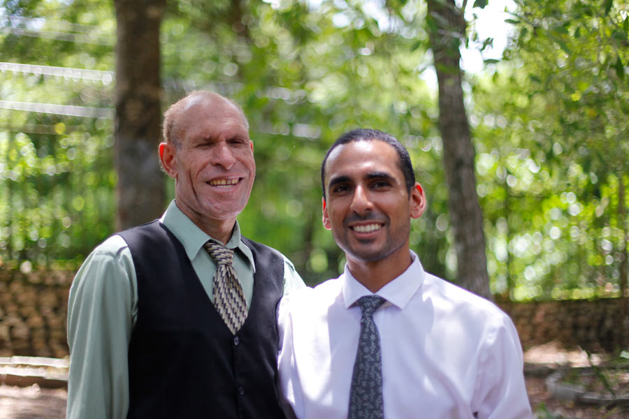 The architectural team: Henry Lape (left) and Saeed Granfar (right).
