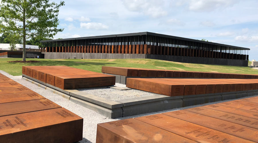 The National Memorial for Peace and Justice in Montgomery, AL.