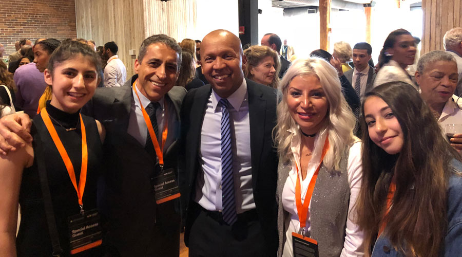 My family and I with Bryan Stevenson founder of EJI.