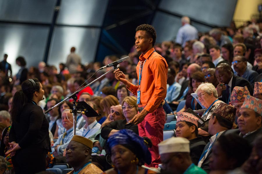 A delegate from Jamaica offers some comments to the International Convention.