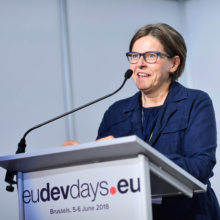 Vice President of the European Parliament Heidi Hautala addresses the audience at the BIC session on 5 June 2018.