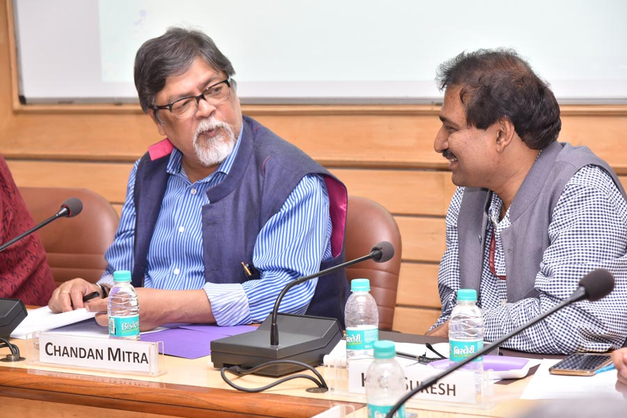 "Dr. Chandan Mitra, the editor and managing director of The Pioneer newspaper, and Mr. K.G. Suresh, the director general of the Indian Institute of Mass Communication (IIMC), spoke at Saturday's roundtable meeting titled ""Covering Religion with Sensitivity and Understanding in an Interdependent World"" held in New Delhi."