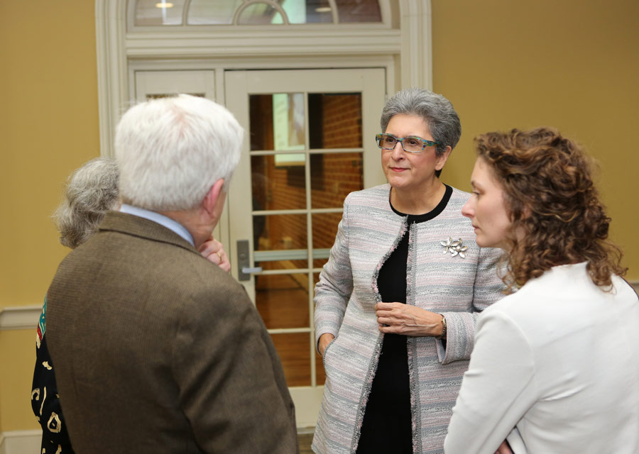 Hoda Mahmoudi (second from right) is the holder of the Baha'i Chair for World Peace at the University of Maryland, College Park. The Chair hosted a recent conference, bringing together scholars and practitioners from a range of fields to share emerging insights about attaining global peace and security.