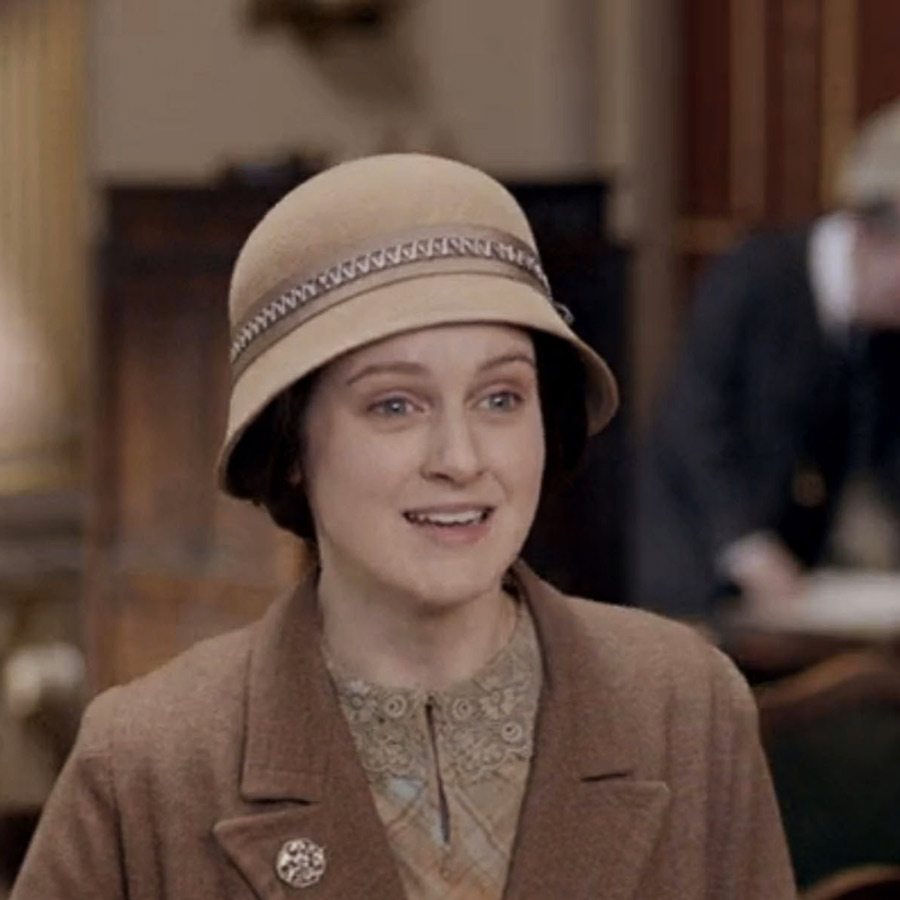 One of Sahar's hats worn by Daisy in Downton Abbey.