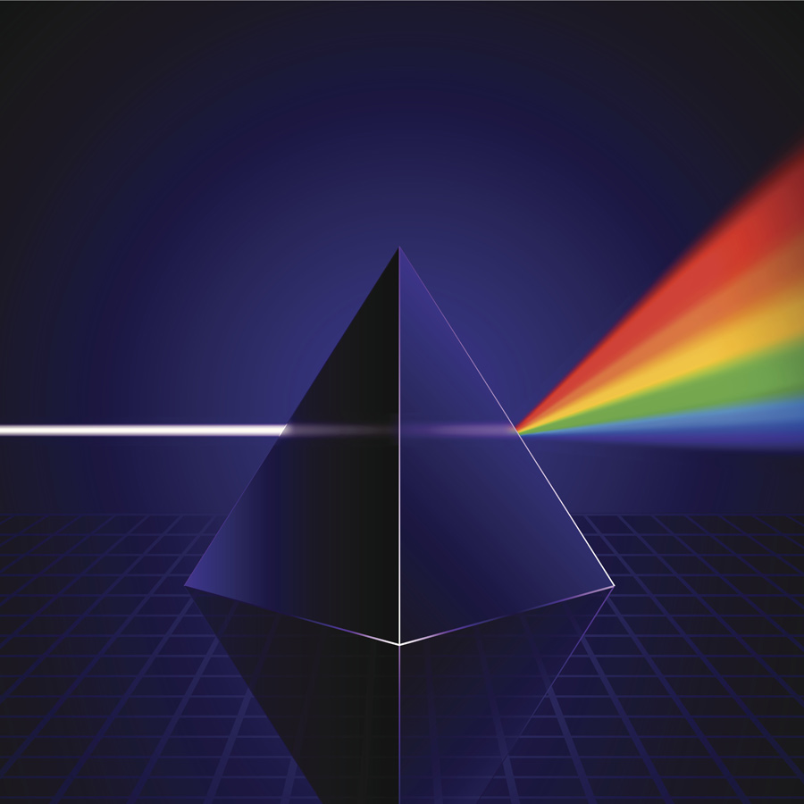 embracing light from prism