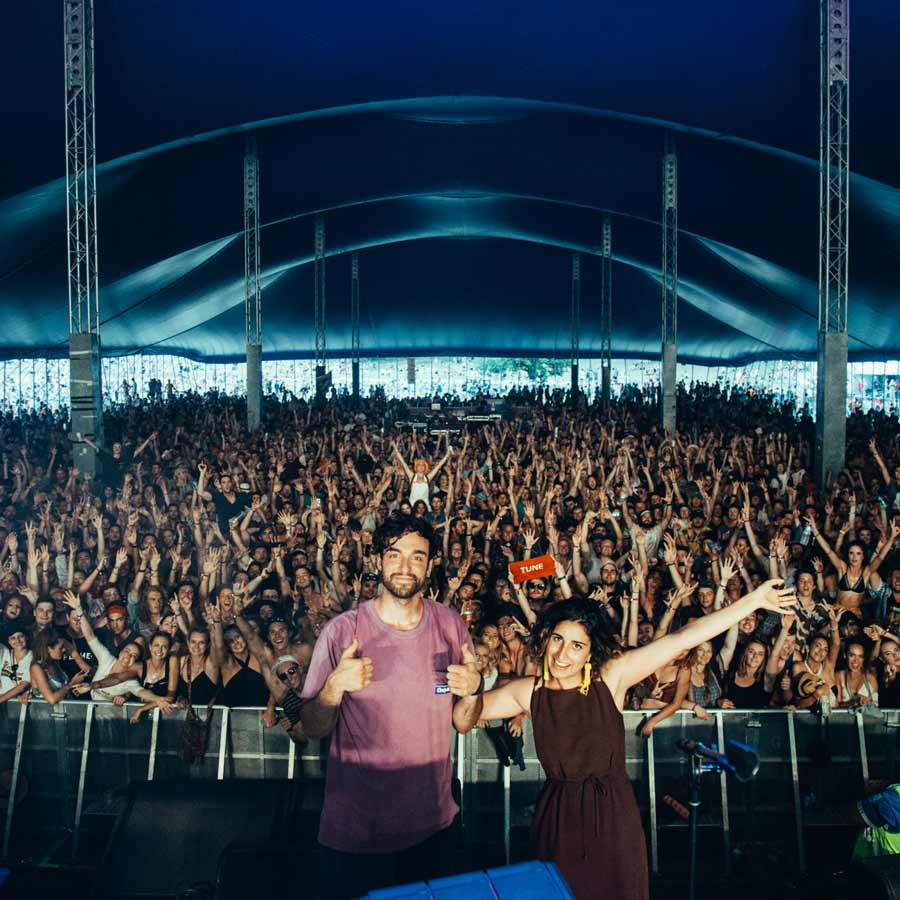 Vallis Alps at Falls Festival in Australia.