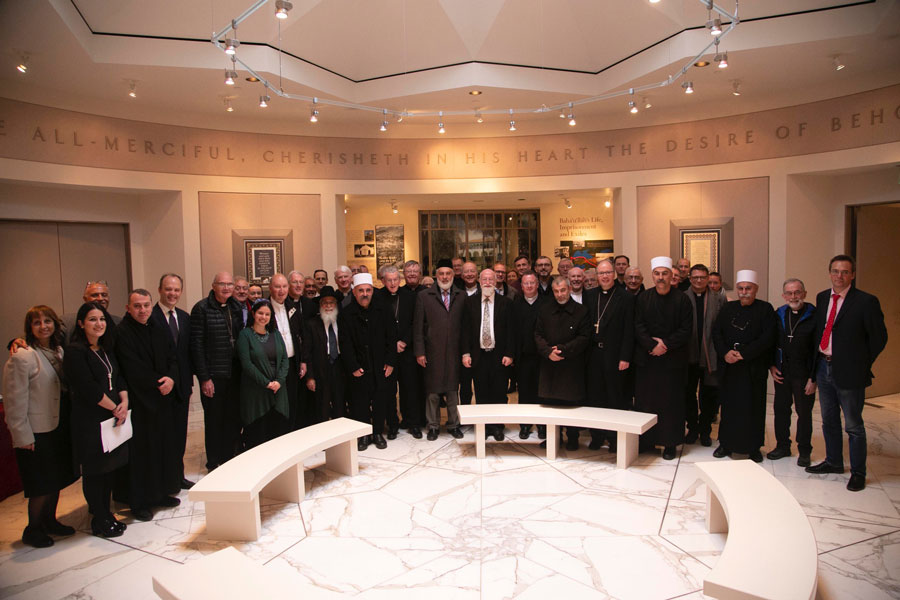 Approximately 50 people, including 17 Roman Catholic and Anglican bishops and their advisers visiting from around the world, attended an interfaith gathering held at the Baha'i World Centre on 14 January.