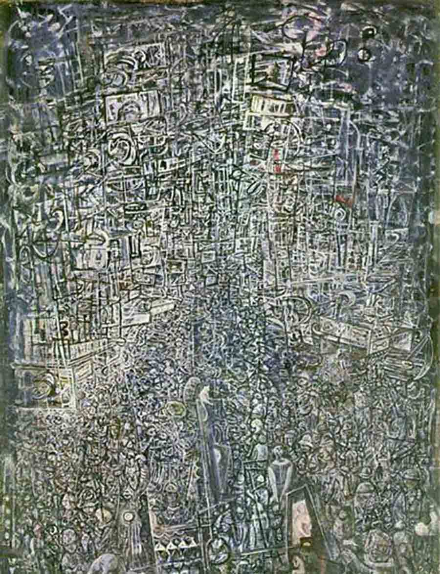 Electric Night (1944) by Mark Tobey