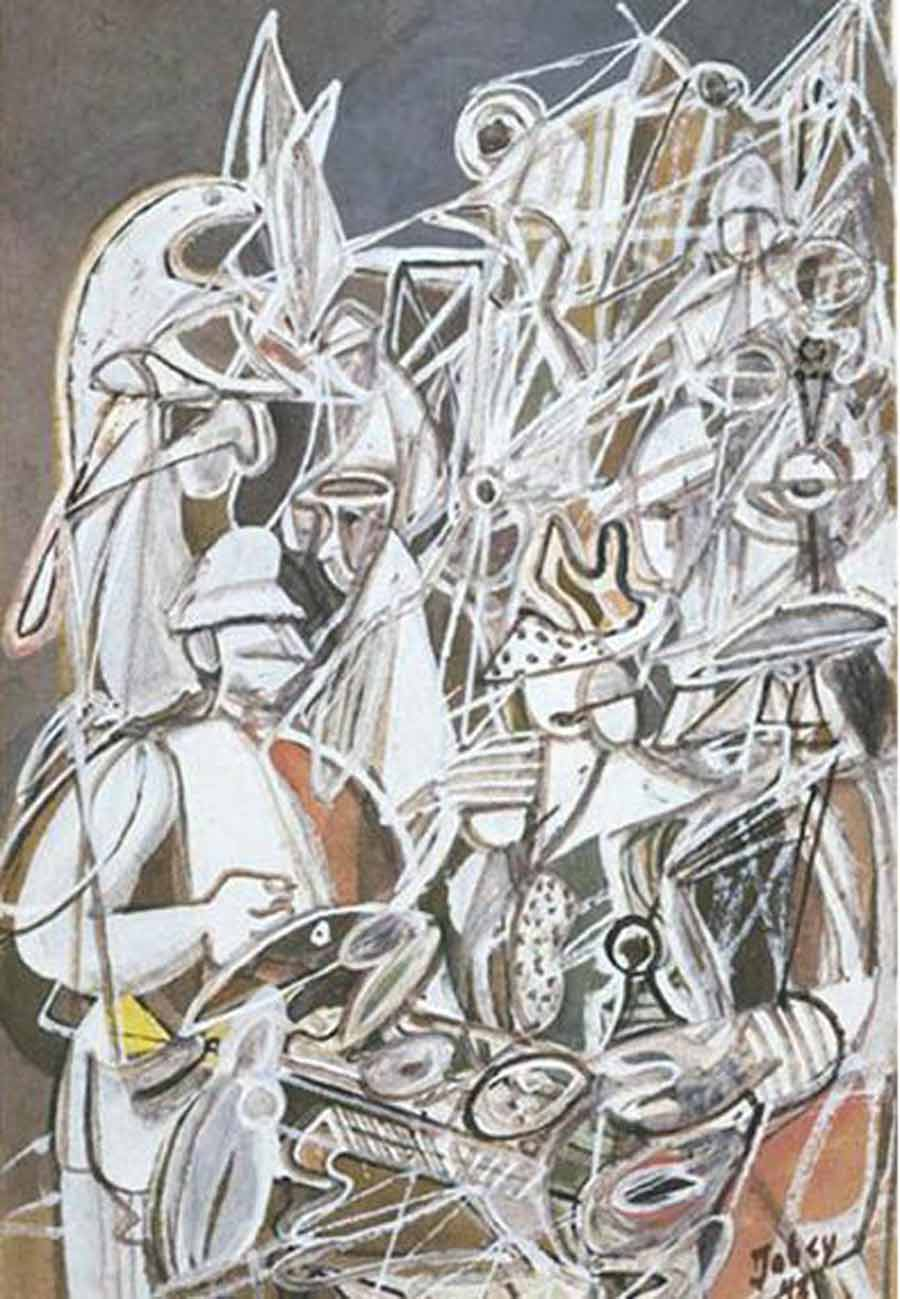 Fish Market (1943) by Mark Tobey