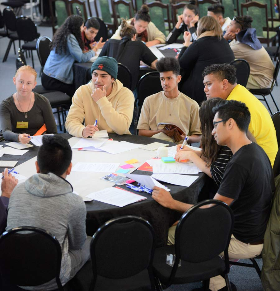 This year's Race Unity Speech Awards and Hui included a day-long conference with discussions among groups of young adults about tackling racial prejudice. (Credit: Ben Parkinson)