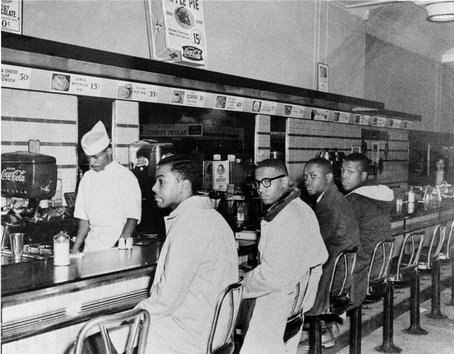 Segregation protest at a Woolworth's lunch counter.