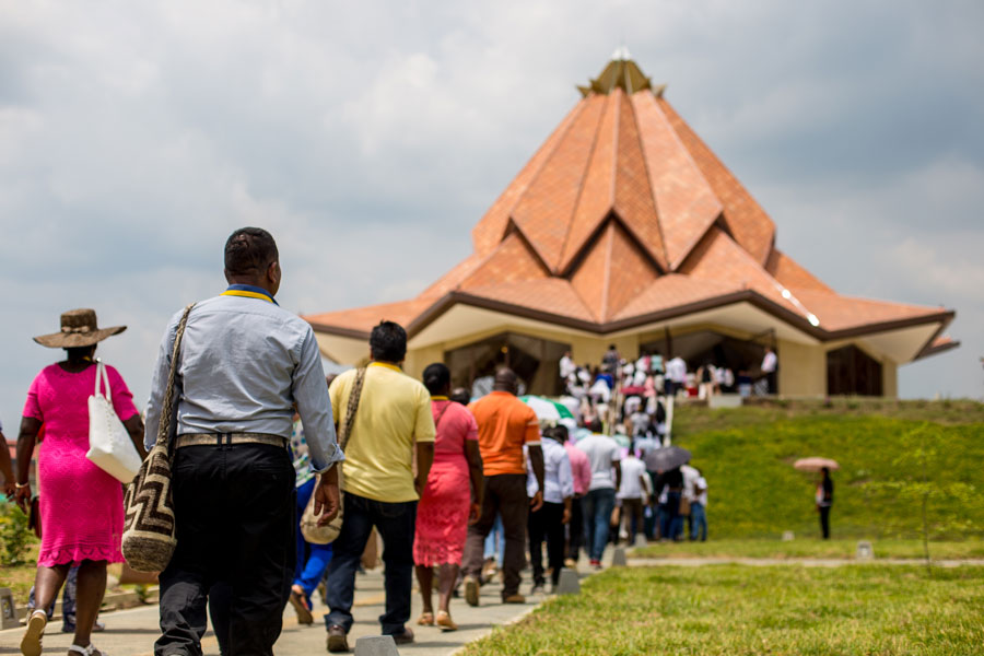 The newest Baha'i House of Worship is in Norte del Cauca, Colombia, and was dedicated in July 2018.