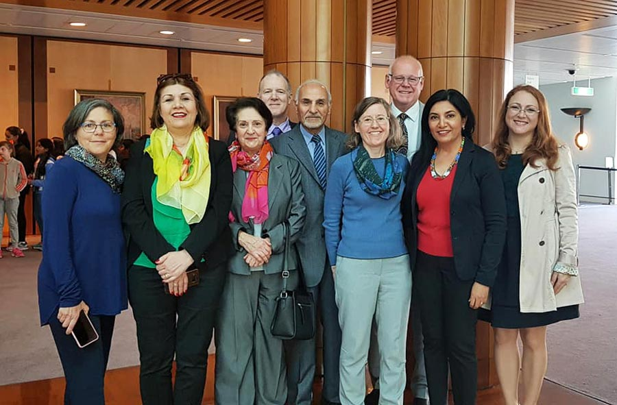 Australian Baha'is attended a session of Parliament on Monday during which MPs spoke about the bicentenary of the birth of the Bab and the Baha'i community's contributions to the country.