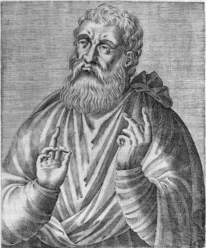 16th century depiction of St. Justin Martyr