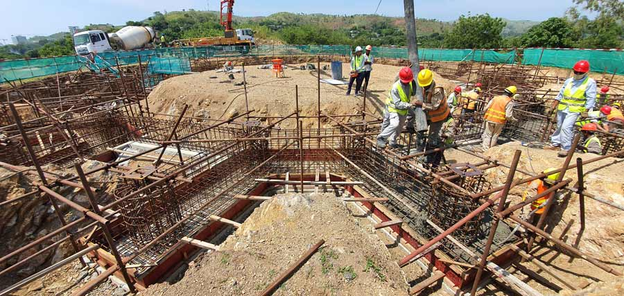 With the foundation expected to be complete in December, construction crews expect to begin work on the Temple's steel superstructure in January.