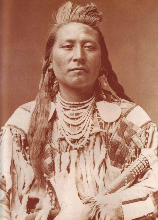 """Plenty Coups (Crow: Alaxchíia Ahú, """"many achievements""""; 1848 – 1932) was the principal chief of the Mountain Crows (the Apsáalooke) of the Crow Nation and a visionary leader."""
