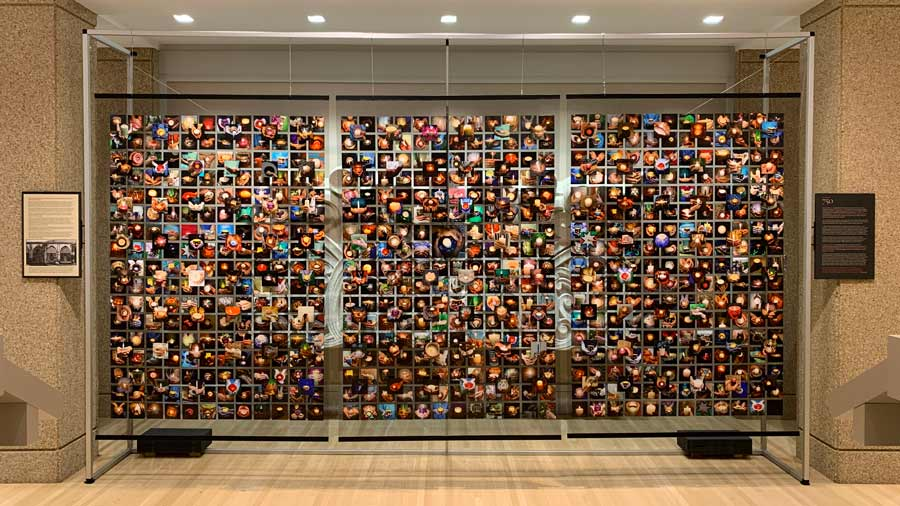 The installation displayed at the Welcome Center of the Baha'i House of Worship in Wilmette, IL.