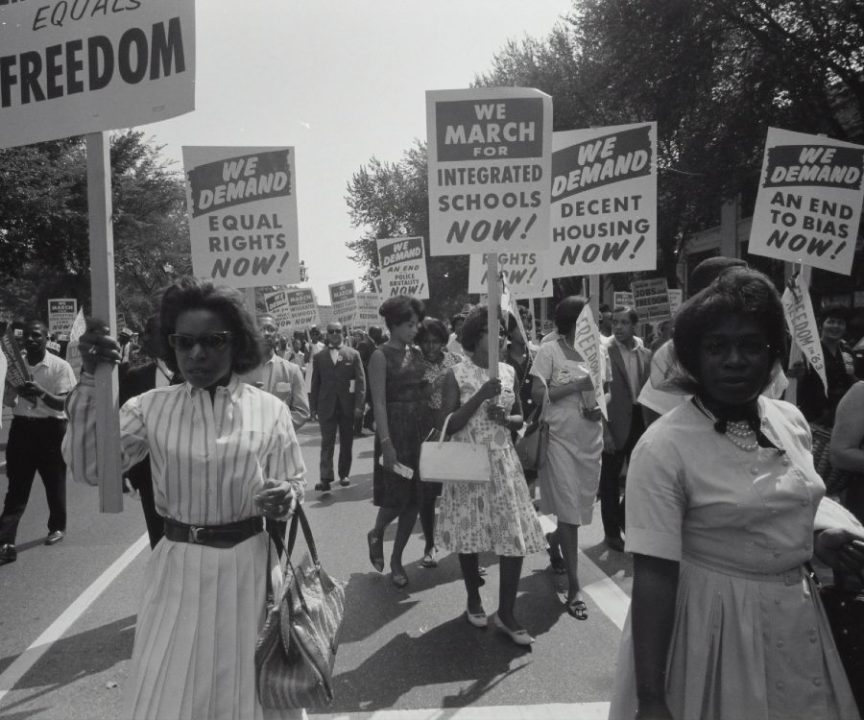 A civil rights march on Washington, D.C., in 1963.