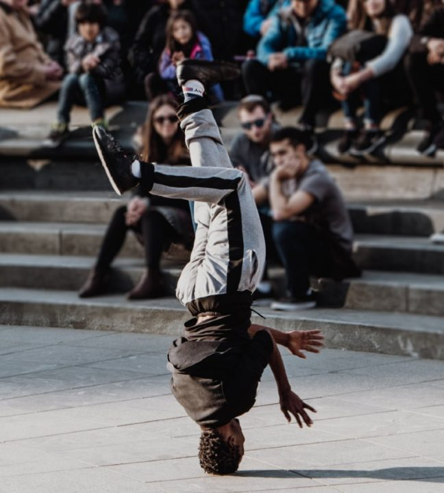 A performer in Washington Square Park