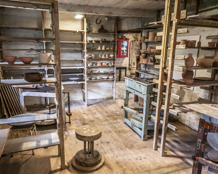 The old throwing room at the Leach Pottery in St. Ives, Cornwall. Photo: Matthew Tyas