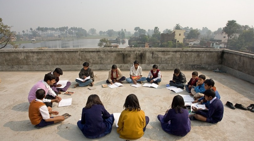 A junior youth group in Biharsharif, India