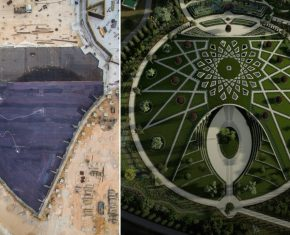 Shrine of Abdu'l-Baha: Structure Rises Above Foundations