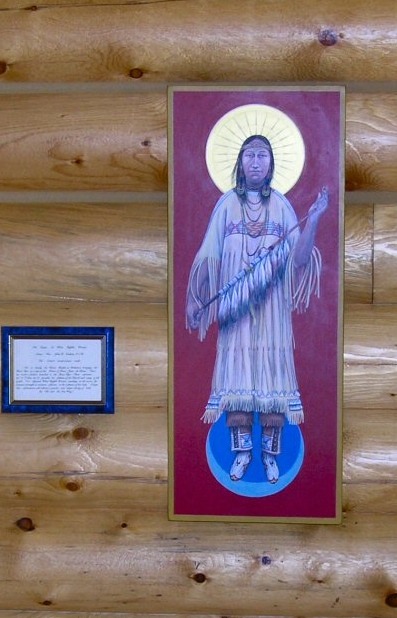 An illustration of White Buffalo Calf Woman at the Sioux Spiritual Center in Howes, South Dakota
