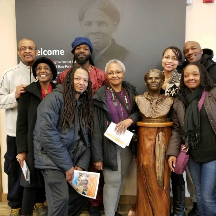 Me and some of my family at the Harriet Tubman Underground Railroad Visitor Center